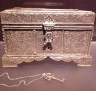 Silver chest box made in China or by Chinese craftsmen in India