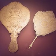 A fan with traditional russian style, wedding gift for Maria Fedorovna