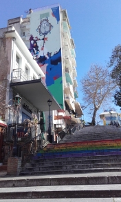 Street art on Gerokostopoulou stairs
