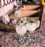 Preparation: Chopped veggies and agavita tequila