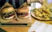 Burger's w white Jack Daniel's sauce @ Bullhouse in Peristeri
