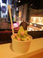 Maccha ice cream in Harajukuuuuuu